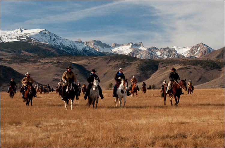 Ranchers on horses
